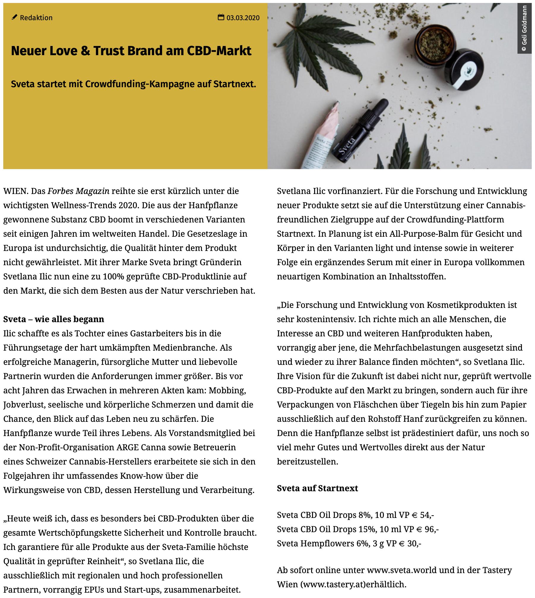 Love & Trust & Startext - medianet greift die Sveta Themen der ersten Stunde auf und erzählt unsere Geschichte. Wie alles begann und wie es weitergehen kann.